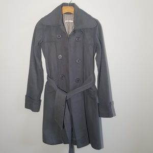 Mike and Chris small gray trench coat